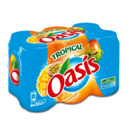 Oasis tropical canette 6x33cl