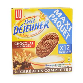 Biscuits petit dejeuner lu chocolat cereales 600g tous les produits barres de c r rales - Carbonate de sodium danger ...