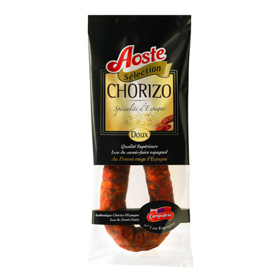Chorizo doux Selection AOSTE, 200g