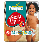 Pampers easy up mid pack extralarge change x24 taille 6