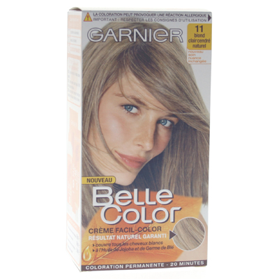 Coloration permanente BELLE COLOR, blond clair cendre n°11
