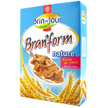 Cereales Brin de Jour Bran'form nature 375g