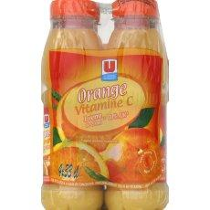 Jus d'orange a base de concentre U, 4x33cl