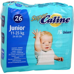 Couches taille Junior : 11-25 kg Super Caline