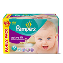 Pampers active fit family 2x47 taille 3