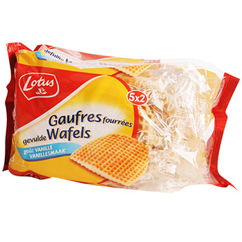 Gaufres fourrees vanille