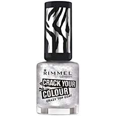 Vernis a ongles Cracker Top Coat RIMMEL, n°020 Silver, 8ml