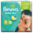 Pampers baby dry paquet 4/9kg x30 taille3