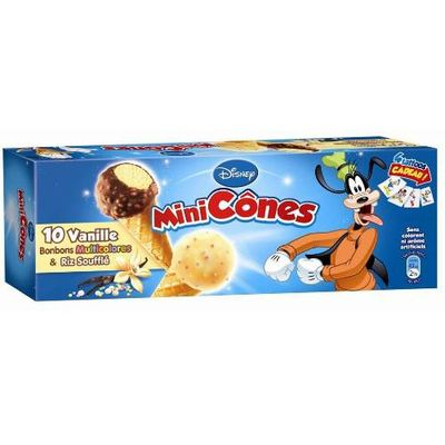 Disney mini cone snacking x10 -250ml