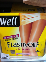 Collant elastivoile satine WELL, beige, taille 2