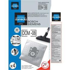 Sacs aspirateurs DOM-08 compatibles Bosch, Siemens, le lot de 4 sacs synthetiques resistants