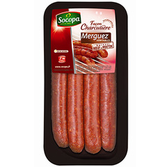 Merguez veritables Socopa S/atmosphere x4 220g