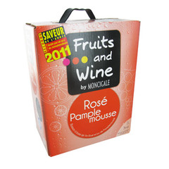 Fruits and wine rosé pamplemousse 3 litres 7.3% Vol.