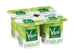 Yaourts biologiques Vrai Nature 4x125g