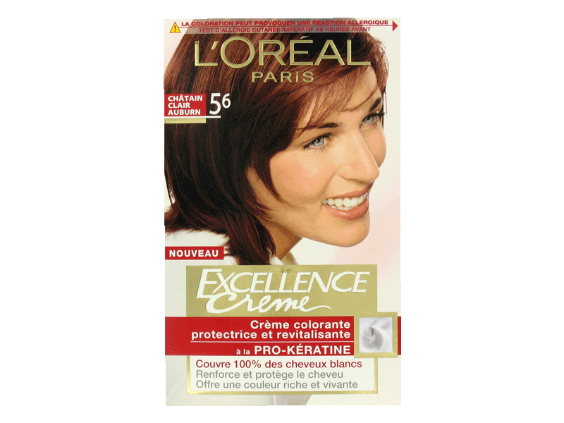 loral excellence crme coloration chtain clair auburn 56 - Coloration Chatain Auburn