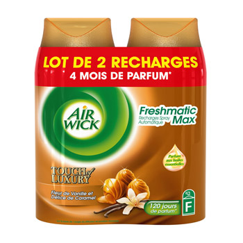Recharge freshmatic Air Wick Vanille delice caramel 2x250ml