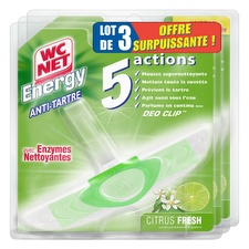 Bloc WC anti-tartre 5 actions Citrus Fresh - Energy