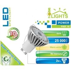 SPOT LED POWER HOMELIGHTS 2W GU10 BLANC CHAUD