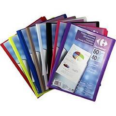 Protege document 80 vues 21x29 7cm a4 coloris assortis for Porte vues couverture personnalisable