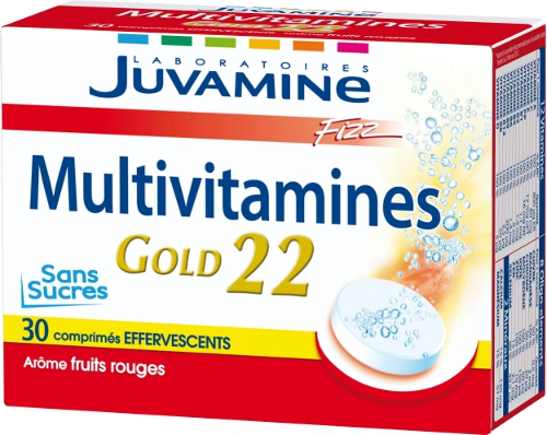 JUVAMINE - JUV061056 - Multi-Vitamines Multivitamines Gold Fizz - 30 Comprimés Effervescents
