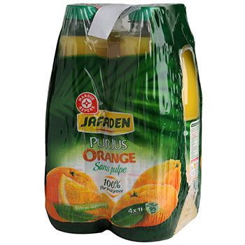 Jus d'orange Jafaden Sans pulpe pur 4x1l