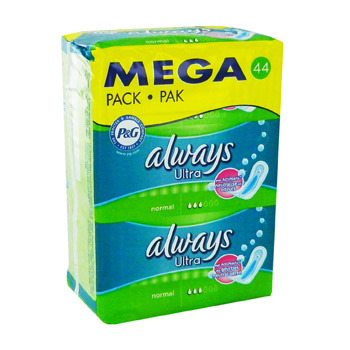 Serviettes hygieniques normal avec actipearls,