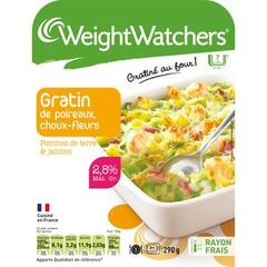 Weight Watchers gratin de choux fleur poireaux 290g