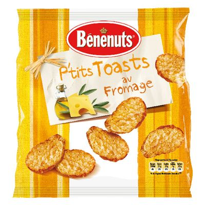 P'tits toasts Fromage & Huile d'olive - Pepites de Soleil