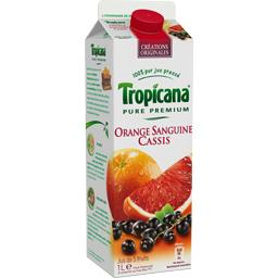 Tropicana, Pure Premium - Jus de fruits orange sanguine cassis, la brique de 1 l