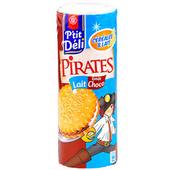 Biscuits P'tit Deli Pirates Cereales lait chocolat 300g