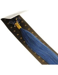 Just Beautiful Hair and Cosmetics Extensions de cheveux naturels 45 cm 0,5 g Mèches d'extensions remy Micro/I...