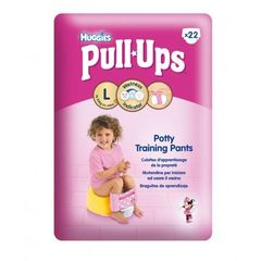 Couches Huggies Pull-ups Economy - fille taille L x22