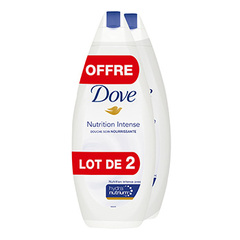 Gel douche bain Dove Nutrition intense 2x400ml