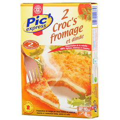 Croc fromage poulet Pic'express 2x100g