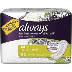 Serviettes incontinence Always Small x20