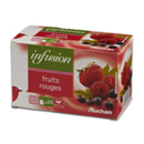 Auchan infusion fruits rouges 20X40g