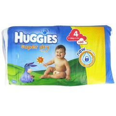 Couches Huggies Superdry, Drylock T4 7-14kg x60