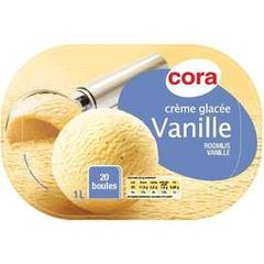 Cora bac creme glacee vanille 1l