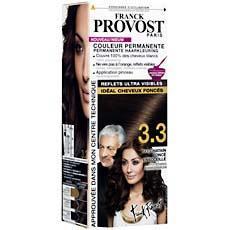 coloration permanente pour cheveux fonces franck provost chatain fonce ensoleille n33 - Coloration Chatain Fonce