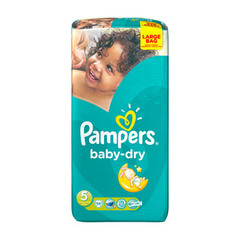 Couches Baby Dry, taille 5 : 11-25 kg