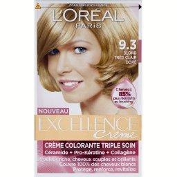 loral excellence crme coloration blond trs clair dor 93 - Coloration Blond Dor