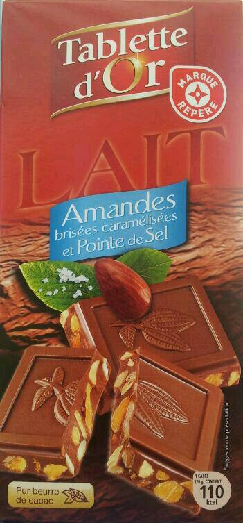 Chocolat au lait Tablette d'Or Amandes caramelisees 200g