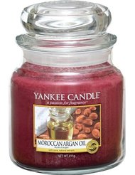 Yankee Candle 1332205E Moyenne Jarre Huile d'Argan Rouge