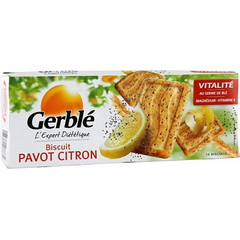 Biscuits Gerble Pavot citron 200g