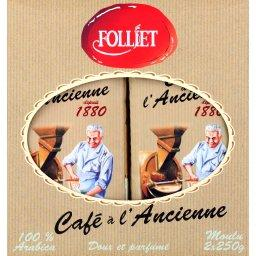 Cafe moulu a l'ancienne FOLLIET CAFES, 2x250g