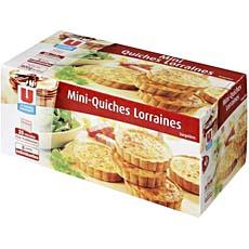 Mini quiches Lorraines U, 8 pieces, 800g