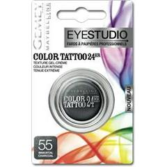 Gemey Maybelline, Eyestudio - Color Tattoo 24hr Immortal Charcoal 55, le fard a paupieres