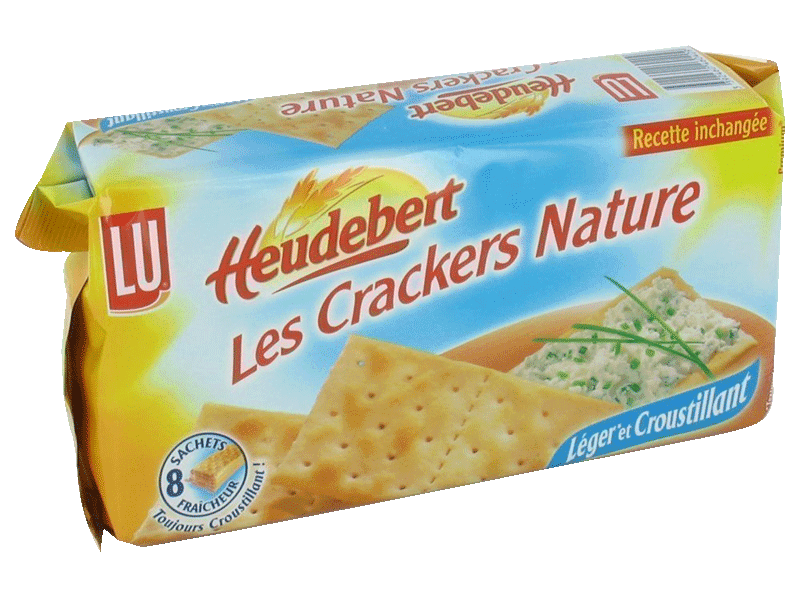 Heudebert crackers de table nature 1 x 250g
