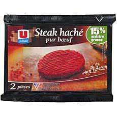 Steak hache 15% de MG U, 2x130g
