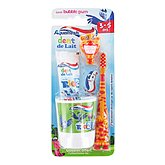 Kit dentaire popsy Aquafresh tube + brosse dent + gobelet orange